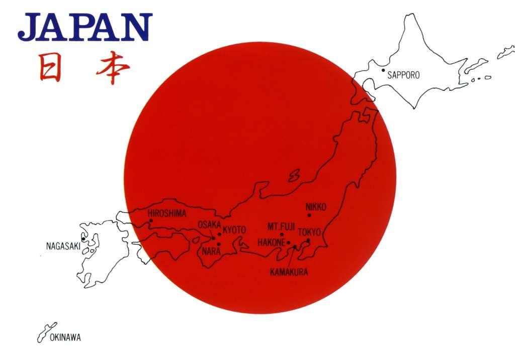 bản đồ đất nước nhật bản